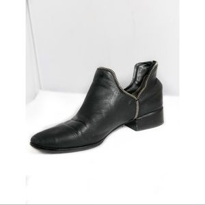 Senso Bailey Leather Ankle Boots Black Size 39